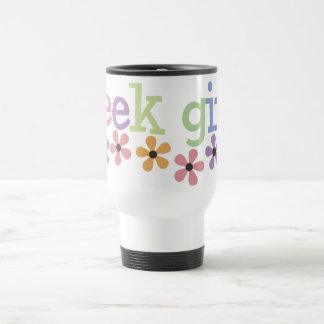Geek Girl Daisies 15 Oz Stainless Steel Travel Mug