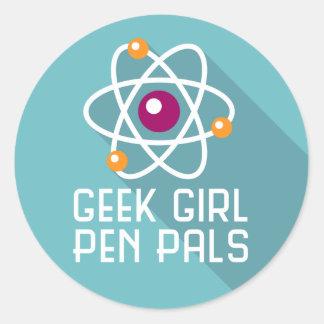 """Geek Girl Pen Pals """"Atom"""" Sticker"""