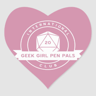 Geek Girl Pen Pals Valentine's Stickers