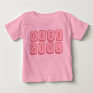Geek Girl Pink Keyboard Baby T-Shirt