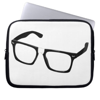 Geek glasses laptop sleeve