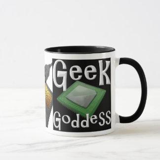 Geek Goddess Computer Chip Mug