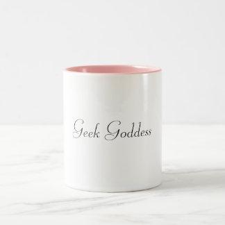 Geek Goddess pink mug