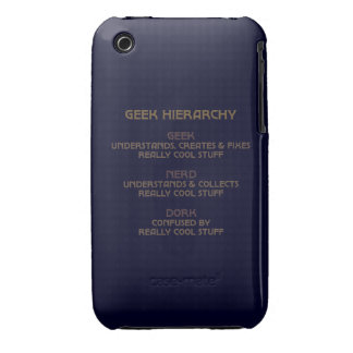 Geek Hierarchy iPhone 3 Case-Mate Case