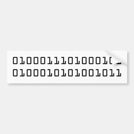 """""""GEEK"""" in binary code Bumper Stickers"""