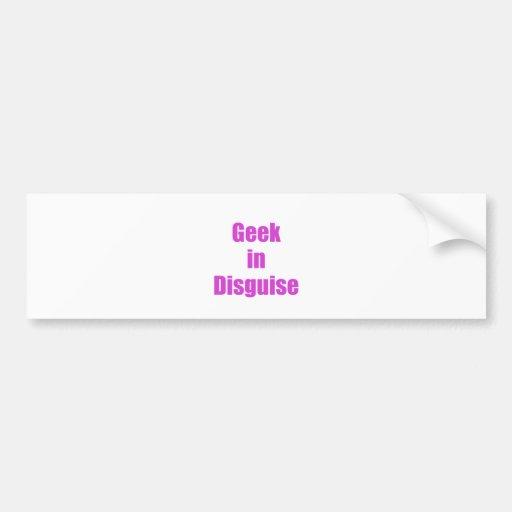 Geek in Disguise Bumper Stickers
