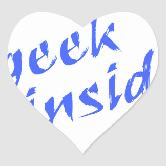 Geek Inside Heart Sticker