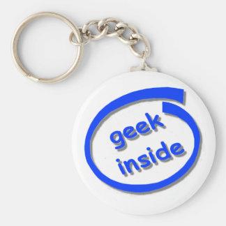 Geek Inside Keyring Basic Round Button Key Ring