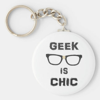 Geek is Chic Basic Round Button Key Ring