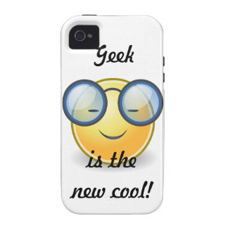 Geek is the New Cool Smiley  iPhone4 Vibe iPhone 4 Case