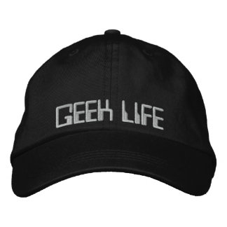 GEEK LIFE EMBROIDERED BASEBALL CAPS