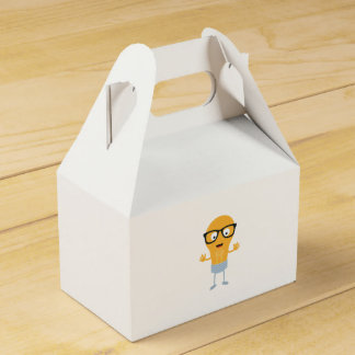 Geek light bulb with glasses Z76fc Favour Box