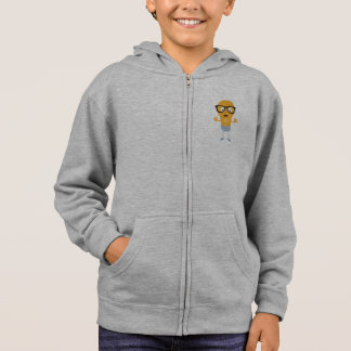 Geek light bulb with glasses Z76fc Hoodie