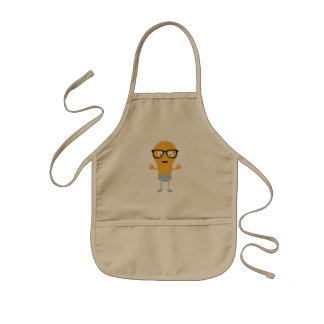 Geek light bulb with glasses Z76fc Kids Apron