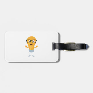 Geek light bulb with glasses Z76fc Luggage Tag