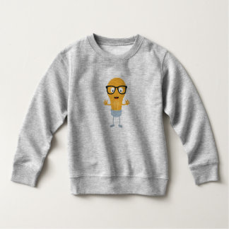 Geek light bulb with glasses Z76fc Sweatshirt