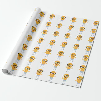 Geek light bulb with glasses Z76fc Wrapping Paper