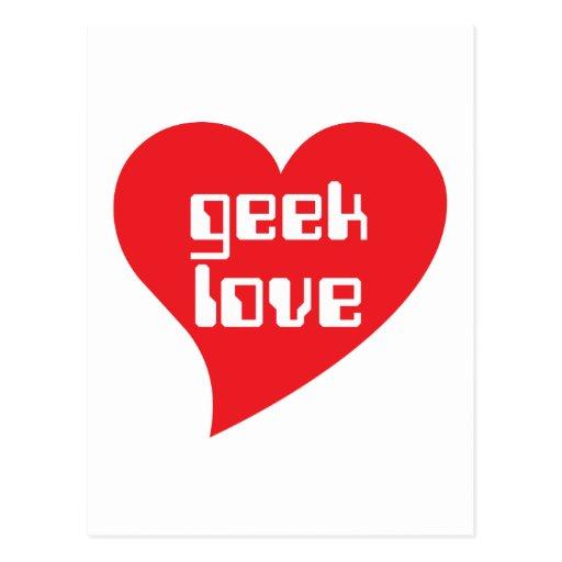 Geek Love by Genepool Design Post Cards