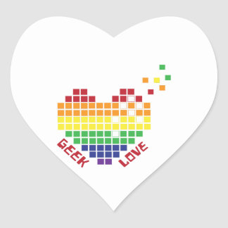 Geek Love Heart Sticker