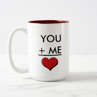 Geek Love Math Two-Tone Coffee Mug