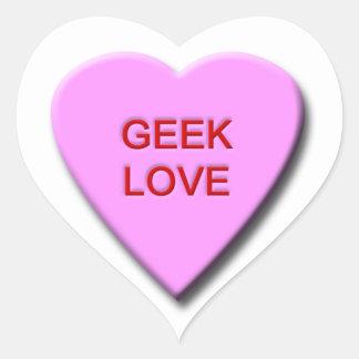 Geek Love Heart Sticker