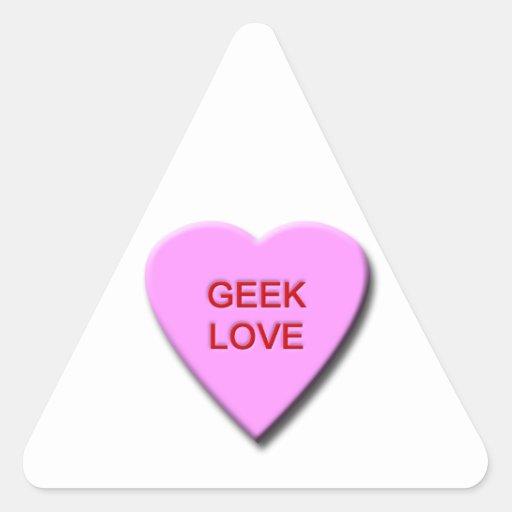 Geek Love Triangle Sticker