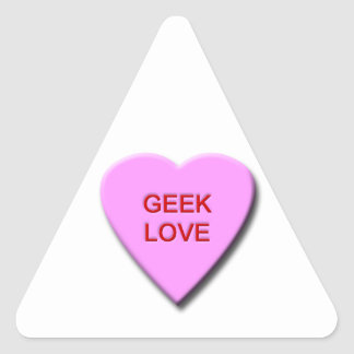 Geek Love Triangle Sticker