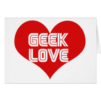 Geek Love Valentines Day Heart Cards