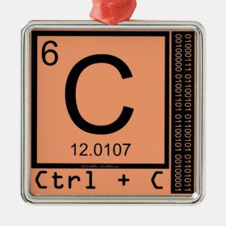 Geek Me! Carbon Copy Silver-Colored Square Decoration