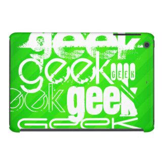 Geek; Neon Green Stripes iPad Mini Covers