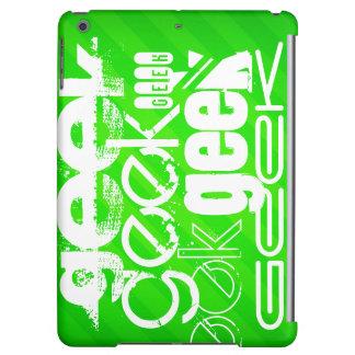 Geek; Neon Green Stripes iPad Air Case