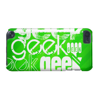 Geek; Neon Green Stripes iPod Touch (5th Generation) Covers