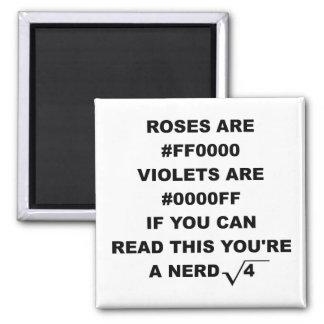 Geek Nerd Poetry Funny Fridge Magnet Roses Are Red