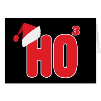 Geek Nerdy Christmas Ho x3 Humor Card