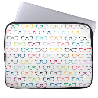 Geek Pattern Multicolor Hipster Glasses Laptop Computer Sleeves