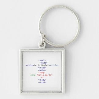 Geek php Greeting Key Chain