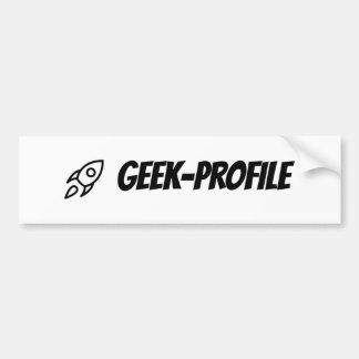 Geek-Profile Bumper Sticker