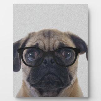 Geek Pug Plaque