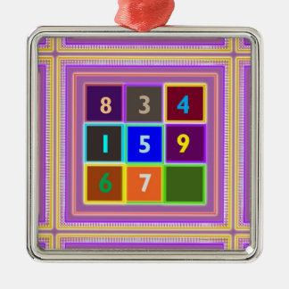 GEEK : Quiz Games for Kids Silver-Colored Square Decoration