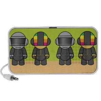 geek robots in a row II Laptop Speakers