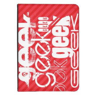 Geek; Scarlet Red Stripes Kindle 4 Cover