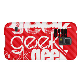 Geek; Scarlet Red Stripes Cases For Galaxy S5