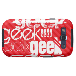 Geek; Scarlet Red Stripes Samsung Galaxy S3 Cover
