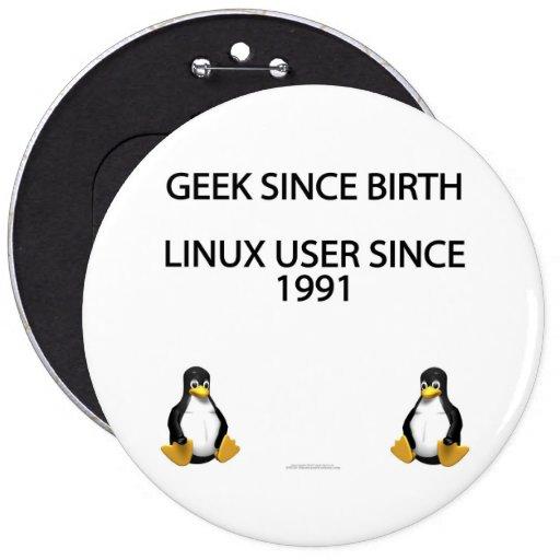 Geek since birth. Linux user since 1991. (button)