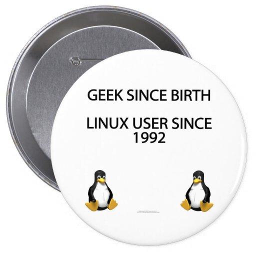Geek since birth. Linux user since 1992. (button)