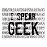 Geek speak 2 pack of chubby business cards