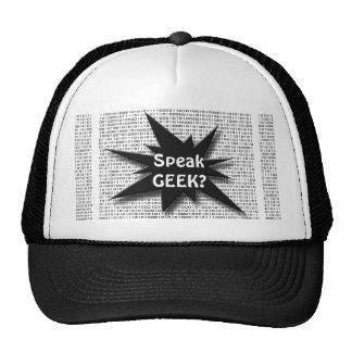Geek speak cap