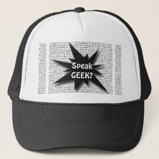 Geek speak trucker hat