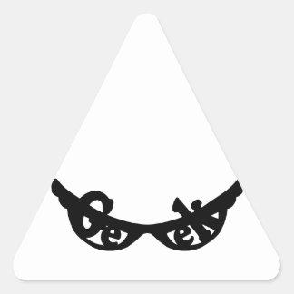 Geek specs triangle sticker