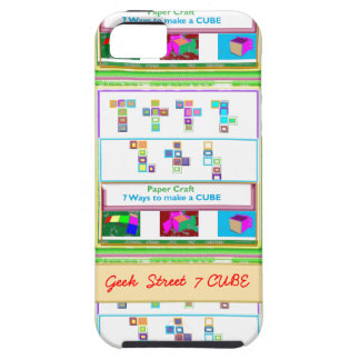 GEEK Street  7 CUBE : Kids Paper Craft Lessons iPhone 5 Case